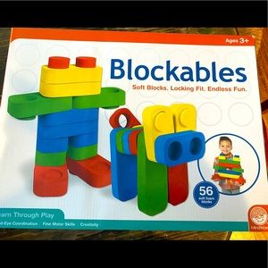 NEW IN BOX!! BLOCKABLES 56 soft blocks for ages 3+